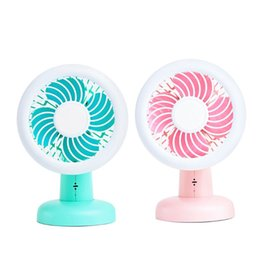 Console Cooling fan online shopping - Creative Handheld Portable LED Light USB Fan Child Cooling Tool Smart Voice Console Light Home Desktop Decoration