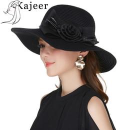 $enCountryForm.capitalKeyWord Australia - Kajeer Fashion Black Boho Summer Beach Hat For church Women Straw Sun Hat Vacation Party Elegant Visor Chapeau Femme Panama