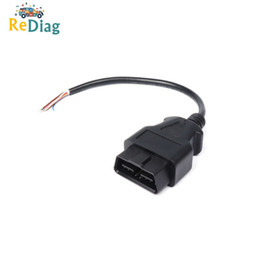 $enCountryForm.capitalKeyWord Australia - 10pcs lot OBD2 16Pin Extension Opening Male Cable High Quality OBDII Car Diagnostic Interface Connector OBD2 Male Cable Adapter