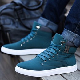 british flat sneakers Australia - Casual Men's Walking Shoes Flats Ankle Boots Male Men Snow Boots British Style Men Canvas Sport Shoes Sneakers