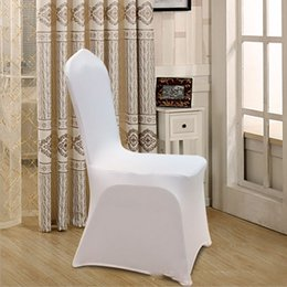 $enCountryForm.capitalKeyWord Australia - New arrival white Chair covers elastic force Multifunction overall Chair cover for Wedding decoration hotel Banquet restaurant many colors
