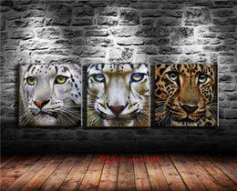 painting faces Canada - Leopard Face , 3P Canvas Painting Living Room Home Decor Modern Mural Art Oil Painting #01