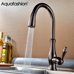 Oil Rubbed Brass Kitchen Faucet Australia - Luxury Kitchen Faucet Oil Rubbed Bronze Brass Kitchen Sink Mixer Keukenkraan Deck Mounted Single Handle Tap
