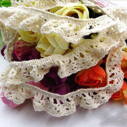 trims ribbons Australia - Wide 1.5cm white cotton Elastic Lace Trim Ribbon DIY Apparel Sewing Fabric DIY Garment Accessories Decoration