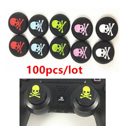 Ps4 Sticks Australia - 100pcs Skull Head Thumb Stick joystick Cover silicone Cap For Playstation 4 PS4 PS3 Analog Grip For Xbox one Xbox360 Controller
