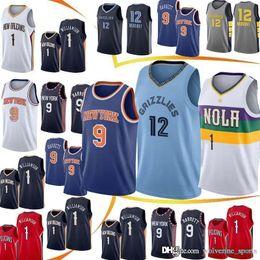 Logo jerseys online shopping - Zion Williamson jerseys RJ Barrett Ja Moran jersey new Knox Embroidery Logos MEN