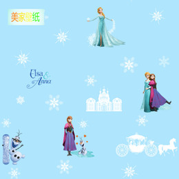 $enCountryForm.capitalKeyWord Australia - home decor Children's room luminous snowflake wallpaper Frozen Romance fairy tale world girl bedroom cartoon wallpaper non-woven wall paper