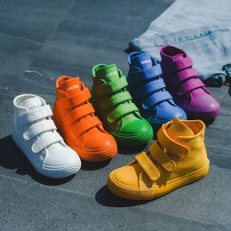 Wholesale Canvas High Shoes Australia - Kids shoes baby canvas Sneakers Breathable Leisure designer shoes children boys girls High top Shoes 5 colors C6786