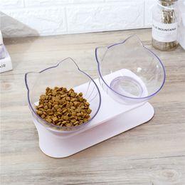 США Корабль Cat Чаша Double Pet Чаша с поднятой Stand Pet Food и чашка воды для кошек собак Питателей Pet продуктов на Распродаже