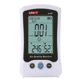 digital humidity temperature monitor thermometer UK - Monitor Analyzer Temperature UNI-T A15F HCHO Air Quality Humidity Tester Gas Detector Environmental Meter Digital Thermometer
