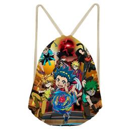 Red Beyblade Australia - ThiKin Beyblade Burst Backpack Teenagers Student School Bags Travel Shoulder Bag Anime games Light Drawstring Bag custom