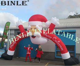 $enCountryForm.capitalKeyWord Australia - Xmax Holiday Christmas inflatable Santa Claus arch Inflatable Christmas archway for outdoor decoration
