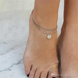Green Day Figure Australia - Simple Heart Female Anklets Barefoot Crochet Sandals Foot Jewelry Leg New Anklets On Foot Ankle Bracelets For Women Leg Chain 20 styles ALXY