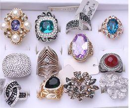 Zircon Rings Prices Australia - wholesale 10pcs lots low price high quality 925 silver diamond crystal zircon lady's ring random mix size*style 3.7yyerdf