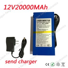 $enCountryForm.capitalKeyWord Australia - Wholesale 10pcs lot 12V 20000MAH Portable li-ion 12V Lithium Polymer Battery Pack for Backup Power Bank External Battery with 2A Charger