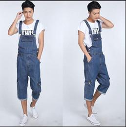 30bbb650a6c -Male Denim Bib Pants Men Spaghetti Strap Pants Trousers Loose Plus Size S  M L XL 2XL 3XL 4XL 5XL Jumpsuit Overalls