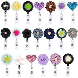 Wholesale 28 inches Retractable Badge Reels Reel Clip Mixed Random Nurse ID Badge Holder with Belt Clip Pack of