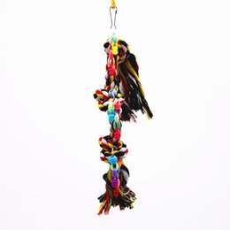 China Cotton Rope Festival Parrot toy Gnaw Chew String Bird supplies feeder cage cockatiel Toys chicken suppliers