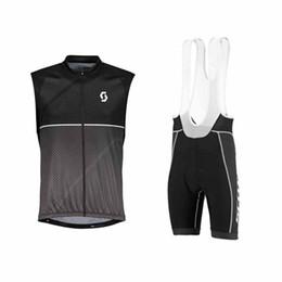 Scott Bike Bibs UK - SCOTT team Cycling Sleeveless jersey Vest bib shorts sets Breathable Quick Dry Polyester bike wear Outdoor sports clothes summer mens Y53082
