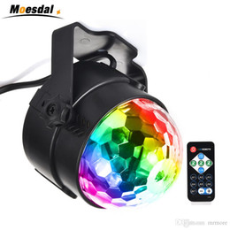 Crystal Light Usa Australia - Holiday Lighting 3W Mini RGB Crystal Magic Ball Led Stage Lights DJ KTV Disco Party Lamp IR Remote Control Christmas Projector