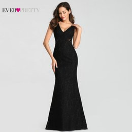 $enCountryForm.capitalKeyWord Australia - Sexy Evening Dresses Pretty 2019 Mermaid V-neck Sleeveless See-through Full Lace Formal Party Gowns for Wedding T190606