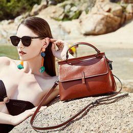 $enCountryForm.capitalKeyWord Australia - 2019 Top Quality Designer Brand New Lady Genuine Oil Cowhide Leather Luxury Handbag Shoulder Bag Tote Purse Q42