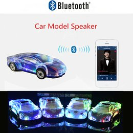 Discount car shaped portable mp3 player Wireless Bluetooth Car Model Speakers Stereo Car Shape Speaker Support USB TF Card MP3 MP4 Music Player Bass Kid Gifts f