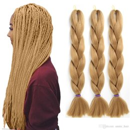 jumbo box braiding hair Australia - 24 inch Xpression Braiding Hair Solid Color Box Braids Jumbo Braids Crochet Hair Extensions 165g Pack Kanekalon Braiding Hair