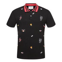 Wholesale american polo shirts resale online – New Luxuryt Designers T shirt for men stripe Fashion poloshirt shirt men High street Snake Little Bee Tiger print mens polo shirt