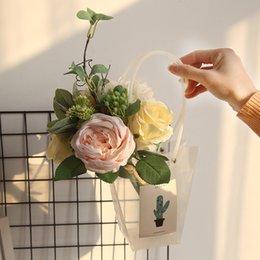 $enCountryForm.capitalKeyWord UK - Rose bouquet net Red Imitation flower manufacturer household decoration wedding hand-held flower road leading wall false flowers