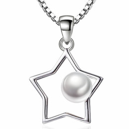 $enCountryForm.capitalKeyWord Canada - Ladies Short Chain Imitation Pearl Five-pointed Star Necklaces Pendants For Women Fashion Jewelry Brithday Gift WJ68