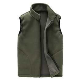 Wholesale fleece vest xl blue resale online - Casual Polar Fleece Vest Men Autumn Winter Warm Sleeveless Jacket Waistcoat Coats Outwear Windproof Men s Thermal Soft Vest