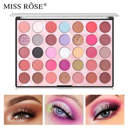 rainbow eyeshadow NZ - 2019 MISS ROSE 35 Color Shades Studio Rainbow Makeup Eyeshadow Palette Highlighter Shimmer Make upPigment Eye Shadow Pallete