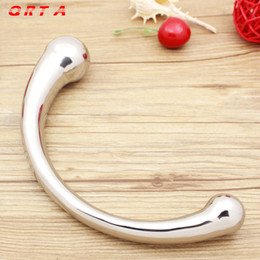 $enCountryForm.capitalKeyWord Australia - Good stainless steel Anal dildos Metal penis butt plug prostate massager G-spot stimulation sex products for women men gay men C18112201