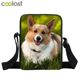 $enCountryForm.capitalKeyWord NZ - Cute Corgi Crossbody Bags for Women Handbag Pet Dog Boys Girls School Bags 2018 Ladies Clutch Pikachu Kids Mini Messenger