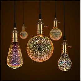 3D LED Lamp Edison Light Bulb Vintage Decoration E27 110V 220V LED Filament lamp Copper Wire String Replace Incandescent Bulb on Sale
