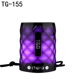 $enCountryForm.capitalKeyWord NZ - 2019 new Portable TG155 LED Light Bluetooth speaker with Hands free Mic support TF Card FM Mini LED lights Lamp outdoor waterproof subwoofer