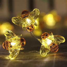 led string remote Australia - Christmas Halloween Decorative bee String Lights 40 LED Weatherproof 8Mode Indoor and Outdoor Remote Control Copper Wire Lamp 10069
