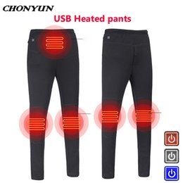 men s down pants 2019 - Winter Outdoor Heating Fever Imitation Down Pants Trousers High Waist Leggings Trousers Slim Thickened USB Charging Heat