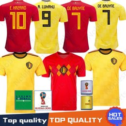 527f4ab66 2018-2019 World Cup Soccer Jersey 2018 Home Away LUKAKU E.HAZARD KOMPANY DE  BRUYNE 18 19 Belgium football shirt WOMEN man