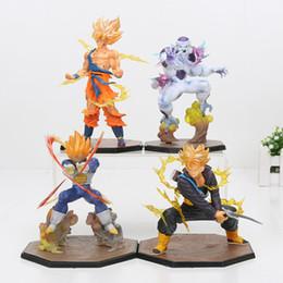 $enCountryForm.capitalKeyWord NZ - 14-18cm Dragon Ball Z Super Saiyan Goku Son Gokou Vegeta Freeza Trunks PVC Action Figure Model Collection Toy Gift Y190529