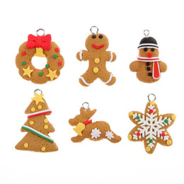$enCountryForm.capitalKeyWord Australia - Christmas Ornament Polymer Clay Pendants Tree Hanging Gift Decoration