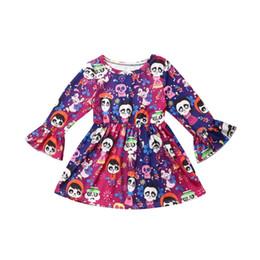 $enCountryForm.capitalKeyWord UK - New Halloween Infant Kid Baby Girl Cartoon Flared Sleeve Princess Dress Clothes 1-6Y