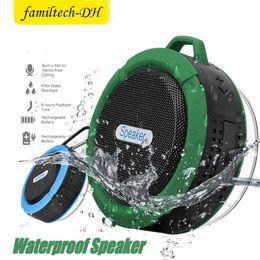 $enCountryForm.capitalKeyWord Australia - C6 Outdoor Sports Shower Portable Waterproof Wireless Bluetooth Speaker Suction Cup Handsfree MIC Voice Box For iphone 7 iPad PC Phone