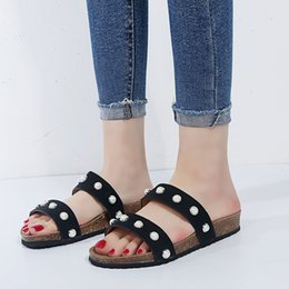 $enCountryForm.capitalKeyWord Canada - Beach Shoes 2019 Large Size Slippers Female Flat Casual One-Shaped Open Toe Rhinestones Sandals Slip Non-Slip Shoes