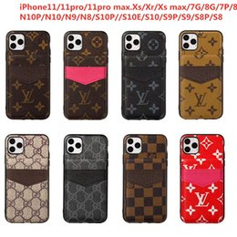 iphone pattern 2020 - Leather Phone Case For Iphone XS Max XR X 8 7 6 Plus Dirt-resistant Letter Pattern Cellphone Shell DHL shipping cheap ip