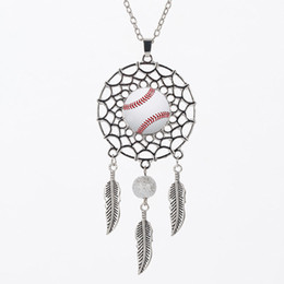 $enCountryForm.capitalKeyWord UK - Baseball Necklace Football Basketball Pendant Time Necklaces Pendant Leaf Necklace Vintage Charms Chain Jewelry Gift 6styles GGA2008