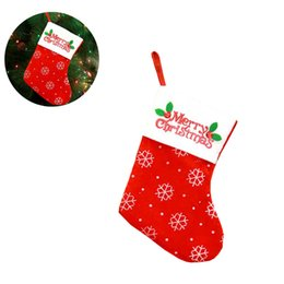 AdorAble bAgs online shopping - 1Pc Adorable Christmas Gift Bags Christmas Sock For Xmas Holiday Party Favors And Decorations Treats Drawstring Candy