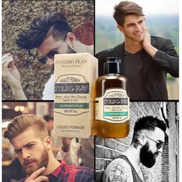 $enCountryForm.capitalKeyWord Australia - 200ml Hair Gel Paste Retro Pomade Strong Hold Slicked Back Hairstyle Moisturizing Super Hard Waxes Beauty Salon For Men Women Free Ship