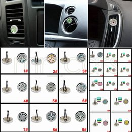 $enCountryForm.capitalKeyWord NZ - 22 Styles Car Vent Clip Perfume Hollow Out Air Vent Clip Freshener Essential Oil Diffuser Stainless Steel Locket Freshener